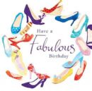 "BIRTHDAY CARD ""GLITTER SHOES DESIGN"" LARGE SQUARE SIZE 6.25"" x 6.25"" II0621"